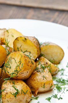New Potatoes With Herbes De Provence, Lemon and Coarse Salt Recipe