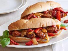 Italian Food ~ Sausage, Peppers and Onions Recipe : Giada De Laurentiis : Food Network - Italian Street Food