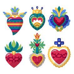 Egyptian Symbols, Viking Symbols, Mayan Symbols, Viking Runes, Ancient Symbols, Heart Illustration, Creative Illustration, Heart Hands Drawing, Mexico Art