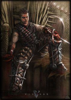 "Fanart ""Ivar the boneless""   #vikings #AlexHøghAndersen #Série #History #homeimprovementactordies,"