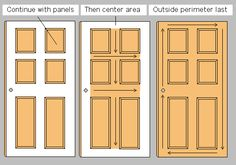 Steps to take for Painting a Door - Add a Pop of COLOR by painting the door.  Ditch the typical white (interior or exterior) door and add a splash of color. Check out this great how-to with 5 easy steps to transform a door