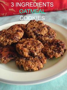 TREAT & TRICK: 3 INGREDIENTS OATMEAL COOKIES