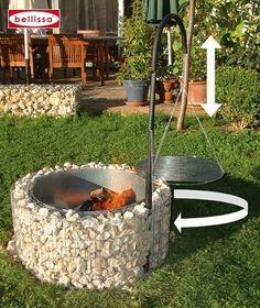 Beschreibung des Feuer- und Grillstelle 920 x 400 mm, Gabionengrill von Bellissa: