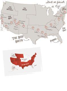 San Fran, Big Sur, LA, Vegas, Grand Canyon, New Orleans, Nashville, DC & New York