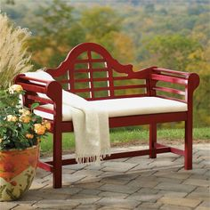 "Lutyens Wooden Outdoor Bench 54"" wide Grandin $249"
