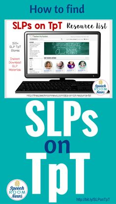Looking for SLPs on TpT? Speech therapy resources are available for instant download at your fingertips! This resource list has all the sellers in one place!