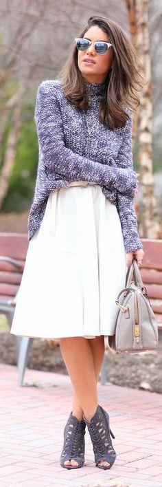 Lavender Knit Turtleneck by
