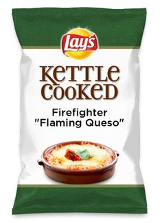 """Wouldn't Firefighter """"Flaming Queso"""" be yummy as a chip? Lay's Do Us A Flavor is back, and the search is on for the yummiest flavor idea. Create a flavor, choose a chip and you could win $1 million! https://www.dousaflavor.com See Rules."""