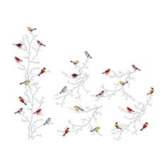 SLÄTTHULT Decorative stickers - IKEA  This would be neat to stencil, just need to be creative on painting the birds so colorfully.