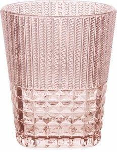 Water Glass Diamond Pink - Baci Milano - Pine-apple - Importeur Emma B