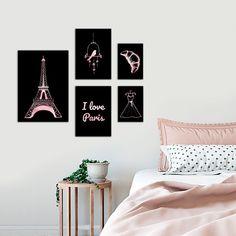 I Love Paris, Gallery Wall, Rose Gold, Frame, Room, Home Decor, Homemade Home Decor, A Frame, Rooms
