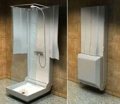 Badezimmer 41 Amazing Small Rv Bathroom Toilet Remodel Ideas How Contemporary Office Furniture Can H Truck Camper, Camper Trailers, Travel Trailers, Small Rv, Small Campers, Small Homes, Folding Campers, Camper Bathroom, Kombi Home