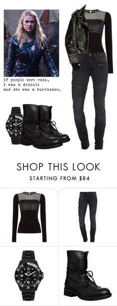"""""""Clarke Griffin - The 100"""" by shadyannon ❤ liked on Polyvore featuring Diesel, TIGHA, Ice-Watch, Christian Benner and Steve Madden"""