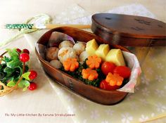 Shredded pork rice ball with Mix Vegetable
