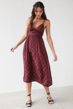 Ecote Gereldene Jacquard Midi Dress $59.99
