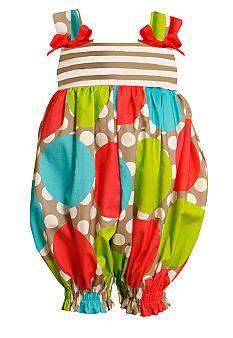 Bonnie Jean® Dot Stripe Romper Toddler Girls