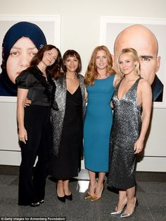 Famous friends: The Office star joined up with gal pals including Emilia Clarke, Amy Adams...