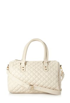 Posh Quilted Satchel | FOREVER21 It's not a purse it's a satchel #Accessories #Handbag #FauxLeather