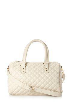 Posh Quilted Satchel | FOREVER21 It's not a purse it's a satchel #Accessories #Handbag #FauxLeather