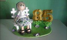 """Topo de bolo """" Vovozinha 85  anos"""""""