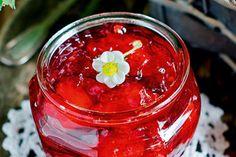 Bottled strawberries