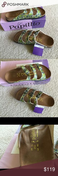 Birkenstock sandal Brand new Birkenstocks Papillio sandals. Just didn't fit me, was hoping could wear a bigger size but couldn't. Beautiful shoes never worn, original box included. Shoe says 39 but in Birkenstock sizing that is a 8. Open to offers Birkenstock Shoes Sandals