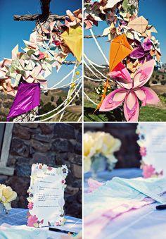 whimsical kite carnival wedding
