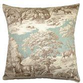 Found it at Wayfair - Feramin Toile Cotton Front Pillow