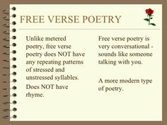 Free Verse Poetry With Images Free Verse Poetry Writing