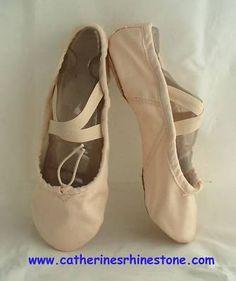 Child Pink CANVAS Split-Sole BALLET DANCE SHOES SLIPPERS Little Kid Size1.5 New | eBay. $15