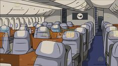 Business Class Airline Section Background: A business class cabin of a commercial airline with light purple seats that has a white headrest in the middle brown dividers gray arms bluish purple carpeted aisle a monitor at the back and cream colored cabins Purple Carpet, Trolley Case, Black Desktop, The Computer, Ergonomic Chair, Shorts With Tights, Blue Shorts, Blue Leggings, White Shorts