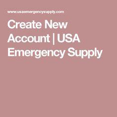 Create New Account | USA Emergency Supply