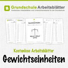Kostenlose Arbeitsblätter und Unterrichtsmaterial zum Thema Gewichtseinheiten im Mathe-Unterricht in der Grundschule.