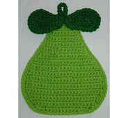 Ravelry: Pear Potholder / Hot Pad pattern by Rhonda Guthrie Crochet Kitchen, Crochet Home, Crochet Crafts, Crochet Projects, Crochet Potholders, Crochet Motif, Crochet Doilies, Crochet Patterns, Crochet Granny