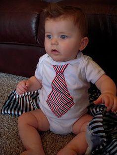 DIY: Baby Boy Tie Onesie