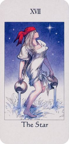 The Star (XVII) is the seventeenth trump or Major Arcana card in most the traditional Tarot decks. It is used in game playing as well as in divination.