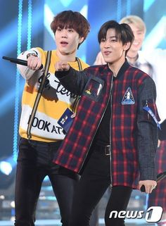 Yugbam is back! I also love DAY6's YoungK in the background!! GOTDAY interactions are climbing up my list.... #Yugyeom #Bambam