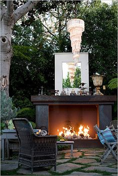 Unique and stylish fireplaces for outdoor living - San Diego interior decorating | Examiner.com