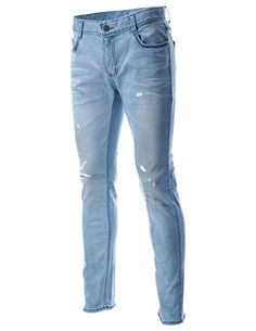 FLATSEVEN Mens Slim Fit Relaxed Straight Distressed Denim Ripped Jeans Pants (DN15010), Size L FLATSEVEN http://www.amazon.com/dp/B00NWM6DFE/ref=cm_sw_r_pi_dp_ZEjwub0E65M27