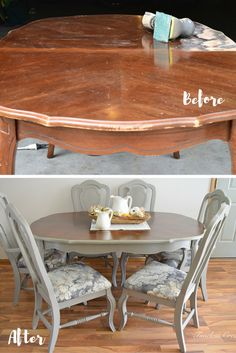 French-style Dining Set Makeover | Timeless Creations, LLC