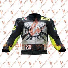 Rossi Wintertest Motorcycle   Motorbike Racing Leather Jacket For Men's All Size #RacingWears