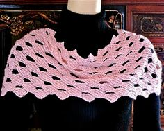 "Tunisian Crochet Lace: ""Petals"" Beaded Ring Scarf, Vashti Braha"