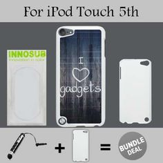 I Love Gadgets Quote Custom iPod 55th Generation CasesWhitePlasticBundle 2in1 Comes with Custom CaseUniversal Stylus Pen by innosub >>> Be sure to check out this awesome product. (Note:Amazon affiliate link) #CellPhonesAccessories