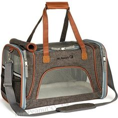 Charcoal Pet Carrier Soft Sided Dog Bag Cat Holder Travel Tote Airline  Approved 138f6685cd93a
