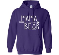 Mama Bear T-Shirts Ladies Present Mothers Day New Mommy Gift