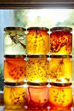 Herb-Infused Honeys : so doing this with the sage and pot of raw honey on my kitchen bench, when I get home tonight #beekeeping
