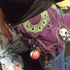 4b19dbcd21a Trail Tracker Belt - triple one leg pocket grip belt - cosplay steampunk  style tomb raider extension
