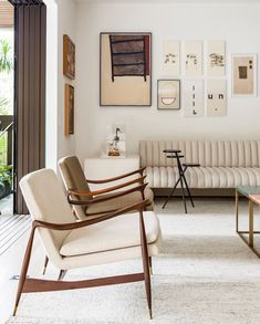 Dinamarquesa Armchairs designed by Jorge Zalszupin. Available at ESPASSO. Midcentury modern and contemporary Brazilian design.