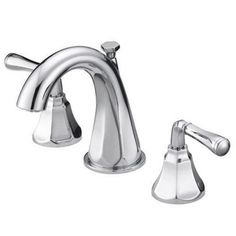 Mirabelle® Key West® 3-Hole Widespread Bathroom Sink Faucet with Double Lever Handle and 4-7/16 in. Spout Reach in Polished Chrome MIRWSCKW800CP