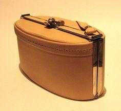 Vintage 1950s Yellow Oval Box Handbag by VioletsEmporium on Etsy, $50.00